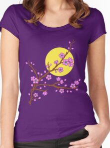 Plum Blossom Moon Women's Fitted Scoop T-Shirt