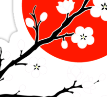 Plum Blossom Moon - White Sticker