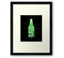 Typography - Beer Framed Print