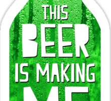 Typography - Beer Sticker