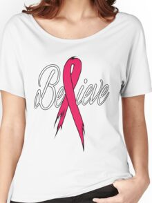 Believe - Breast Cancer Women's Relaxed Fit T-Shirt