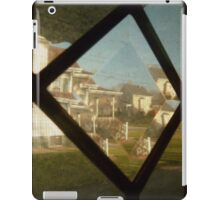 Neighborhood Through Beveled Glass iPad Case/Skin