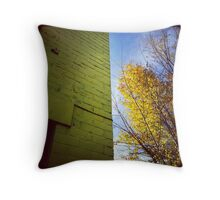 Yellow Building, Yellow Tree (Insta) Throw Pillow
