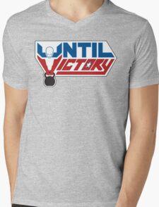Until Victory logo Mens V-Neck T-Shirt
