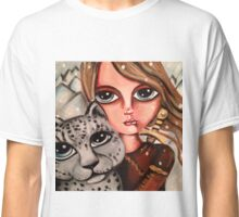 huntress with snow leopard Classic T-Shirt