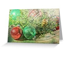 Christmas Card with nostalgic vintage ornaments Greeting Card