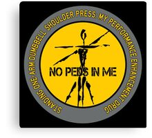 Standing One-Arm Dumbbell Shoulder Press - My Performance Enhancement Drug Canvas Print