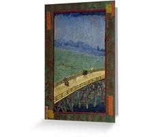 Vincent Van Gogh  - Bridge in the rain after Hiroshige, 1887 Greeting Card