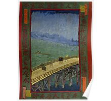 Vincent Van Gogh  - Bridge in the rain after Hiroshige, 1887 Poster