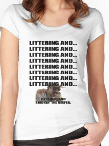 Littering And #1 Women's Fitted Scoop T-Shirt