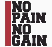 No Pain No Gain Bodybuilding Logo by Style-O-Mat