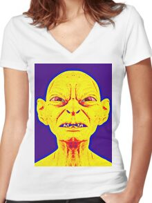 Gollum, alias in The Lord of the Rings: The Two Towers Women's Fitted V-Neck T-Shirt