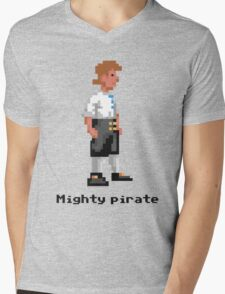 Mighty Pirate Mens V-Neck T-Shirt