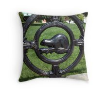 Beaver Church Gate Throw Pillow