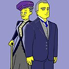 Dowager Countess and Earl - Downton Abbey by Donna Huntriss