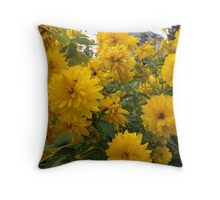London Flowers 5 Throw Pillow