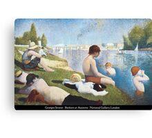 Georges Seurat - Bathers at Asnières Canvas Print