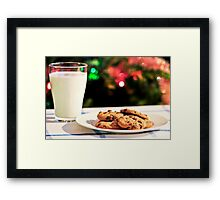 Milk and cookies for Santa Framed Print