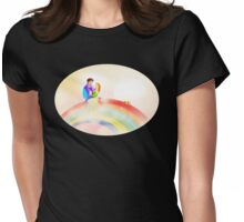 Royal Love on a Rainbow - Oval Womens Fitted T-Shirt