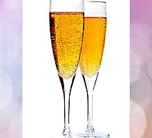 Champagne in glasses by Elena Elisseeva