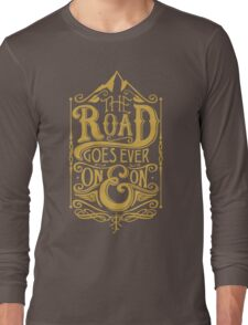 The Road - Gold Long Sleeve T-Shirt