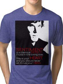 Sherlock BBC Sentiment Sticker Tri-blend T-Shirt