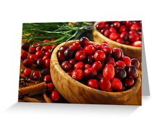 Cranberries in bowls Greeting Card