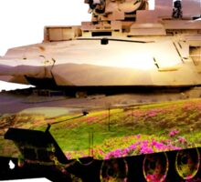 tank with peaceful landscape Sticker