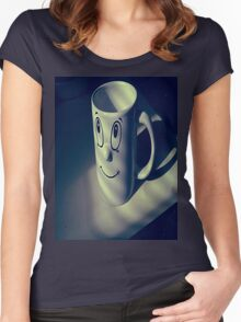 Cup Faced. Women's Fitted Scoop T-Shirt