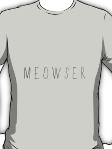 """Meowser"" Typography T-Shirt"