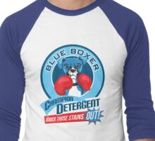 Blue Boxer Champion Detergent Retro T-shirt- original art Men's Baseball ¾ T-Shirt