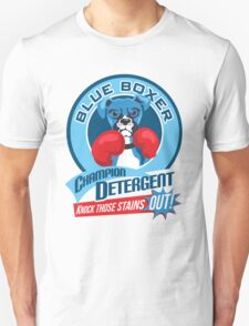 Blue Boxer Champion Detergent Retro T-shirt- original art Unisex T-Shirt