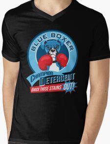 Blue Boxer Champion Detergent Retro T-shirt- original art Mens V-Neck T-Shirt