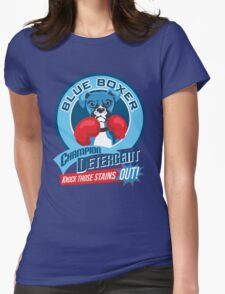 Blue Boxer Champion Detergent Retro T-shirt- original art Womens Fitted T-Shirt