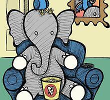 Elephant and the Bird - Movie Night by Brett Gilbert