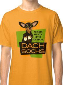 Happy Dachshund in Socks Retro T-shirt- original art Classic T-Shirt