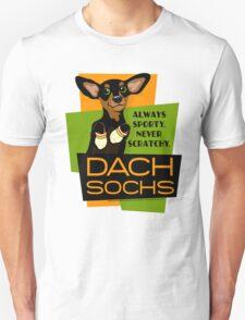 Happy Dachshund in Socks Retro T-shirt- original art Unisex T-Shirt