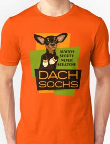 Happy Dachshund in Socks Retro T-shirt- original art T-Shirt