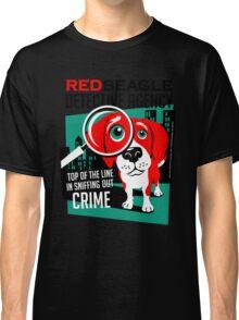 Red Beagle Detective Agency Retro T-shirt- original art Classic T-Shirt