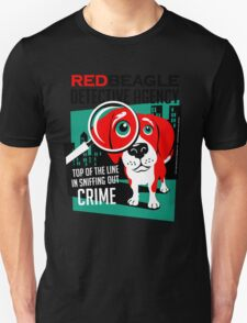 Red Beagle Detective Agency Retro T-shirt- original art T-Shirt