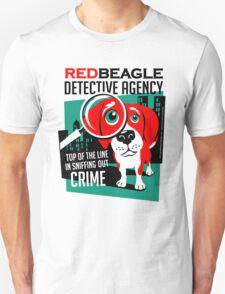 Red Beagle Detective Agency Retro T-shirt- original art Unisex T-Shirt