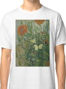 Vincent Van Gogh  - Butterflies and poppies, 1890 Classic T-Shirt