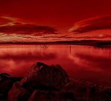 Fire lake by GeoffSporne