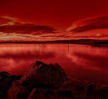 Fire lake by GeoffSporne