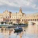 Boating in Plaza de Espana - Seville by Robert Kelch, M.D.