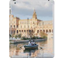 Boating in Plaza de Espana - Seville iPad Case/Skin