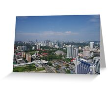 A City Scape of Kuala Lumpur Greeting Card