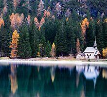 Church On Lake by Raffaello Terreni