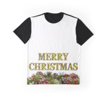 Merry Christmas With Decorative Wreath Graphic T-Shirt