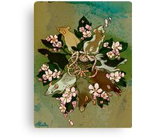 Dark Spring Rat King Canvas Print